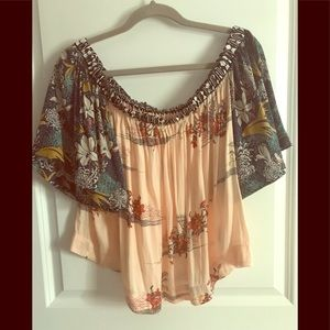 NWT Free People Silk Top Size L